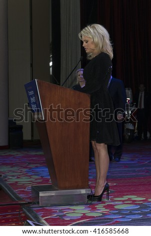New York, NY USA - May 5, 2016: Pamela Anderson attends 4th annual champions of Jewish values international awards gala at Marriott Marquis Times Square
