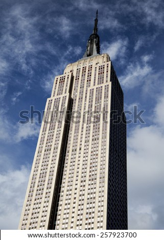 New York, NY, USA - October 18, 2012: Empire State Building :The Empire State Building is a 102-story landmark and was world's tallest building for more than 40 years  - stock photo