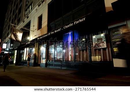 New York, NY, USA - September 20, 2014: BIRDLAND: Bird land is prestigious Jazz club in Manhattan, New York. The name come from great Jazz man, Charlie Parker.