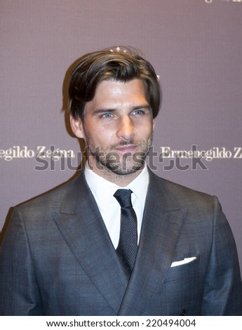New York, NY, USA - September 09, 2014: Johannes Huebl attends the Maserati and Ermenegildo Zegna Event celebrating the One of 100 Maserati Quattroporte Zegna Limited Edition at Industria Superstudio - stock photo