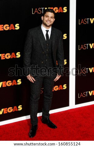 NEW YORK- OCT 29: Actor Jerry Ferrara attends the premiere of 'Last Vegas' at the Ziegfeld Theatre on October 29, 2013 in New York City. - stock photo
