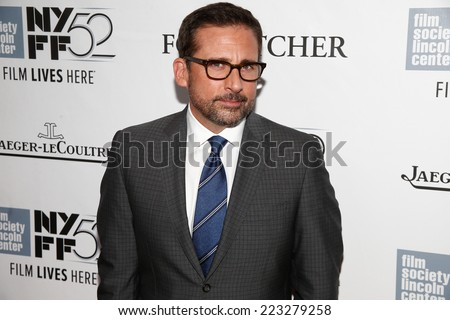"NEW YORK-OCT 10: Actor Steve Carell attends the ""Foxcatcher"" premiere at the 52nd New York Film Festival at Alice Tully Hall on October 10, 2014 in New York City. - stock photo"