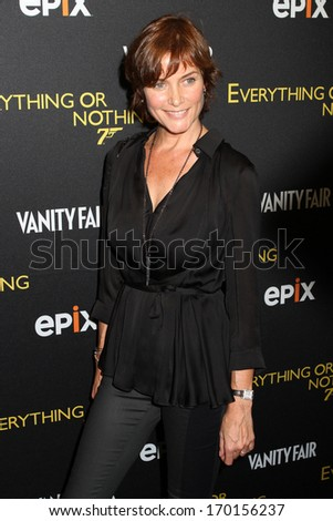 "NEW YORK - OCT 3:  Carey Lowell attends the premiere of ""Everything Or Nothing: The Untold Story Of 007"" at the Museum of Modern Art on October 3, 2012 in New York City."