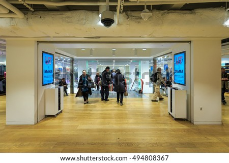 NEW YORK - OCT 31: Customers visit UNIQLO 5TH AVE on Oct 31, 2015 in New York, USA.