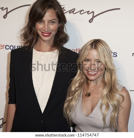 NEW YORK - OCTOBER 05: Christy Turlington Burns and Tracy Anderson attend The Tracy Anderson Method Pregnancy Project at Le Bain At The Standard Hotel on October 05, 2012 in New York City.