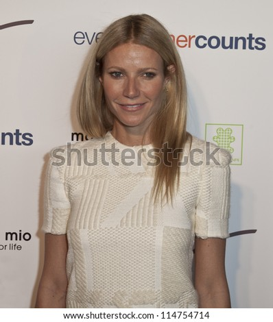 NEW YORK - OCTOBER 05: Gwyneth Paltrow attends launch of The Tracy Anderson Method Pregnancy Project at Le Bain At The Standard Hotel on October 05, 2012 in New York City. - stock photo