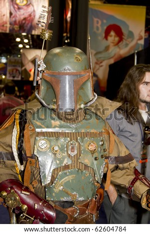NEW YORK - OCTOBER 8:Newsworthy: Convention goer in costume attends the 2010 New York Comic Con at the Jacob Javits Center on October 8, 2010 in New York City, New York.
