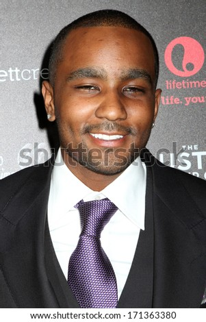 """NEW YORK - OCTOBER 22, 2012: Nick Gordon attends the premiere of """"The Houstons: On Our Own"""" at the Tribeca Grand on October 22, 2012 in New York City. - stock photo"""