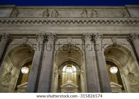 New York Public Library in Manhattan, New York - stock photo