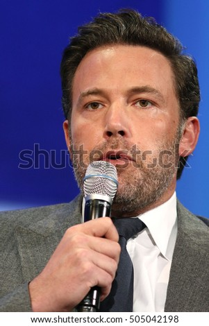 NEW YORK - SEP 21, 2016: Ben Affleck attends the Clinton Global Initiative Annual Meeting at The Shertaon New York Hotel on September 21, 2016 in New York City.