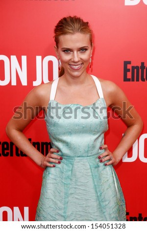 "NEW YORK-SEP 12: Scarlett Johansson attends the ""Don Jon"" New York premiere at the SVA Theater on September 12, 2013 in New York City.  - stock photo"