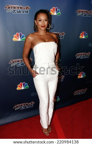 NEW YORK-SEP 17: Singer Mel B attends the post-show red carpet of America's Got Talent: The Finale Season 9 at Radio City Music Hall on September 17, 2014 in New York City. - stock photo