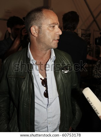 NEW YORK - SEPTEMBER 10: Designer Daniel Silver gives interview backstage for Duckie Brown Collection for Spring/Summer 2011 during Mercedes-Benz Fashion Week on September 10, 2010 in New York