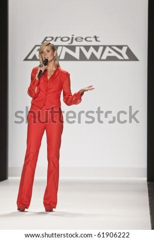 NEW YORK - SEPTEMBER 9 : Heidi Klum at New York Fashion Week Project Runway season 8 finalist fashion show September 9, 2010 in New York, New York - stock photo
