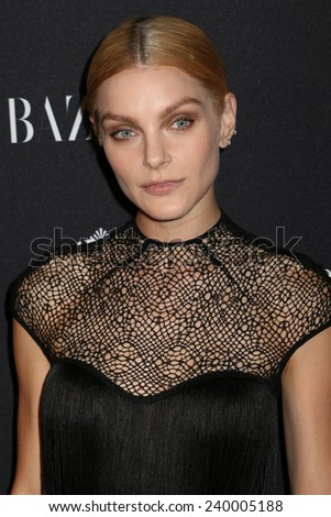 NEW YORK - SEPTEMBER 5: Jessica Stam attends the Harper's Bazaar ICONS event at the Plaza Hotel on September 5, 2014 in New York City.