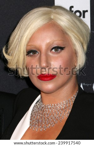 NEW YORK - SEPTEMBER 5: Lady Gaga attends the Harper's Bazaar ICONS event at the Plaza Hotel on September 5, 2014 in New York City. - stock photo