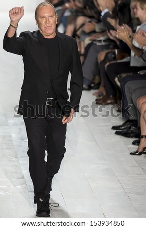 NEW YORK - SEPTEMBER 11: Michael Kors is walking the runway at Michael Kors Collection for Spring/Summer 2014 fashion show during Mercedes-Benz Fashion Week on SEPTEMEBR 11, 2013 in New York