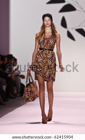 NEW YORK - SEPTEMBER 15: Model walks the runway for Milly Collection by Michelle Smith on Spring/Summer 2011 during Mercedes-Benz Fashion Week on September 15, 2010 in New York