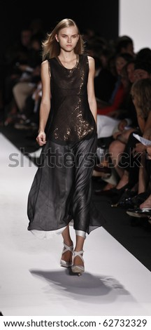 NEW YORK - SEPTEMBER 14: Model walks the runway for Narciso Rodriguez Collection on Spring/Summer 2011 during Mercedes-Benz Fashion Week on September 14, 2010 in New York