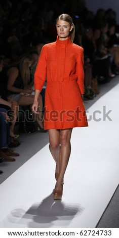 NEW YORK - SEPTEMBER 14: Model walks the runway for TIBI Collection by Amy Smilovic on Spring/Summer 2011 during Mercedes-Benz Fashion Week on September 14, 2010 in New York