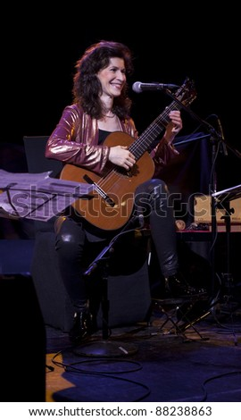 NEW YORK - SEPTEMBER 22: Sharon Isbin guitar performs at CD 'Guitar Passions' release by SONY Classics in Le Poisson Rouge on September 22, 2011 in NYC