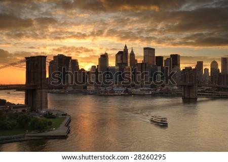 New york silhouette - stock photo