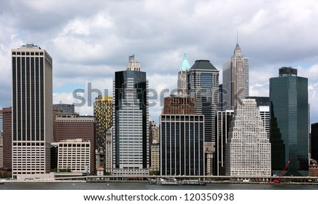 New York Skyline from Brooklyn - stock photo