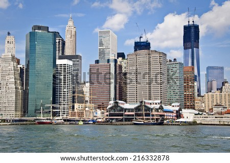 New York  skyline,  New York City, USA