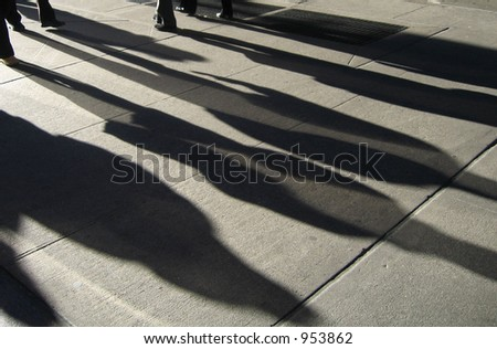 New York Street People Shadows Light Show