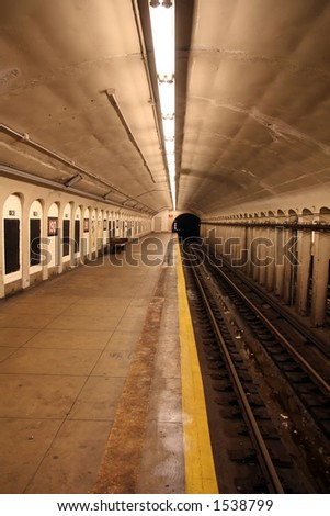 New York Subway Station - 11 - stock photo