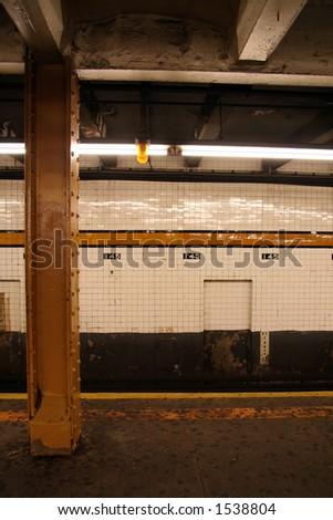 New York Subway Station - 16 - stock photo