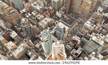New York top view - stock photo
