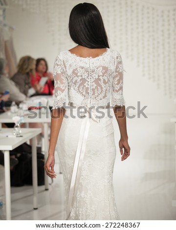 New York, USA - April 19, 2015: Watters Runway at The Knot Couture Show for Bridal Fashion Week