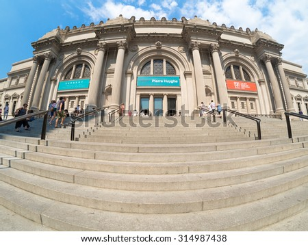 NEW YORK,USA- AUGUST 18,2015 : The Metropolitan Museum of Art in Manhattan - stock photo