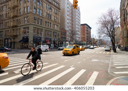 NEW YORK, USA - CIRCA MARCH, 2016: New York City at daytime. New York is the most populous city in the United States.