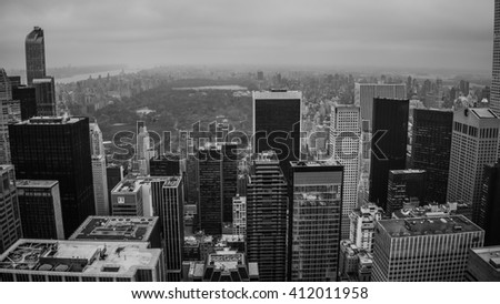 New York, USA - Circa March 2016 - view over new york