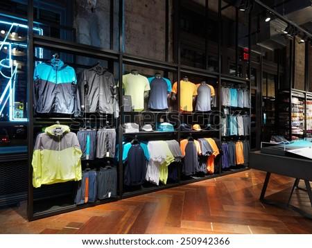 new york usa january 22 2015 nike running stock photo royalty free 250942366 shutterstock. Black Bedroom Furniture Sets. Home Design Ideas