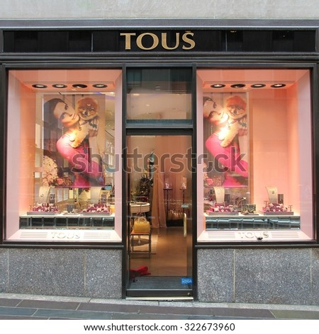 NEW YORK, USA - JULY 1, 2013: Tous jewelry store in New York. Tous exists since 1920 and had 305 million EUR in revenue in 2009.