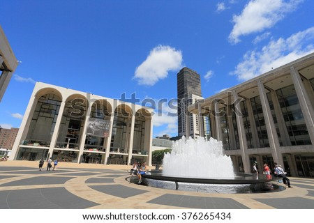 NEW YORK, USA-JUN 12: Lincoln Center in Manhattan, June 12, 2013