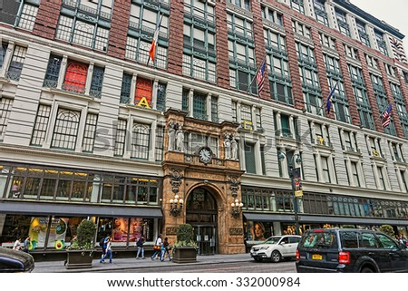 NEW YORK, USA - MAY 06, 2015: Macy's at Herald Square on Broadway in Manhattan on May 06, 2015. New York, USA                        - stock photo