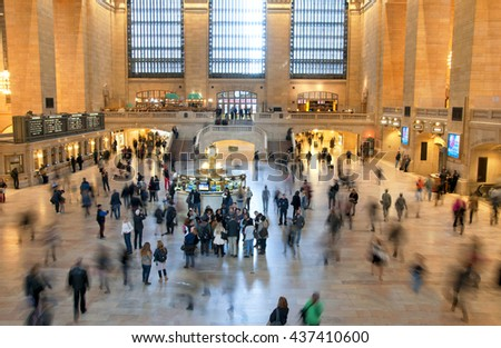 NEW YORK, USA - NOVEMBER 2015: Grand Central Terminal is a railroad terminal at 42nd Street and Park Avenue in Midtown Manhattan, New York USA on November 2, 2015. - stock photo