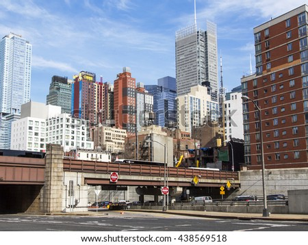 NEW YORK, USA, on MARCH 16, 2016. New York. Typical city landscape