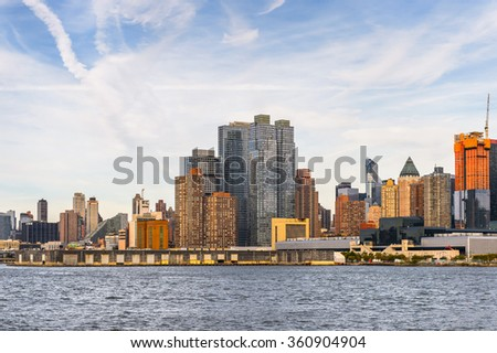 NEW YORK, USA - SEP 25, 2015: Architecture of New York City, USA. New York is the most populous city in the United States