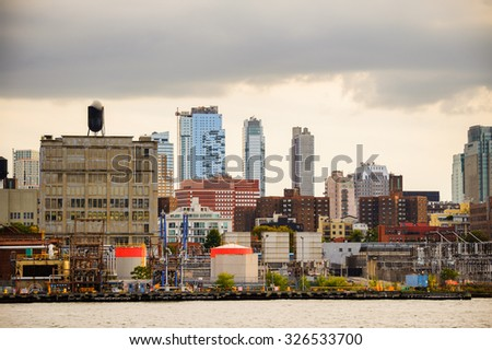 NEW YORK, USA - SEP 25, 2015: Lower Manhattan, New York City, USA. New York is the most populous city in the United States