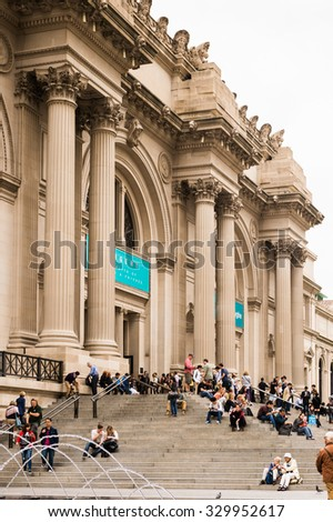 NEW YORK, USA - SEP 25, 2015: Metropolitan Museum of Art (the Met), the largest art museum in the United States of America