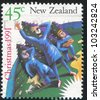 NEW ZEALAND - CIRCA 1991: A stamp printed by New Zealand, shows Shepherds Looking into the Sky, circa 1991 - stock photo