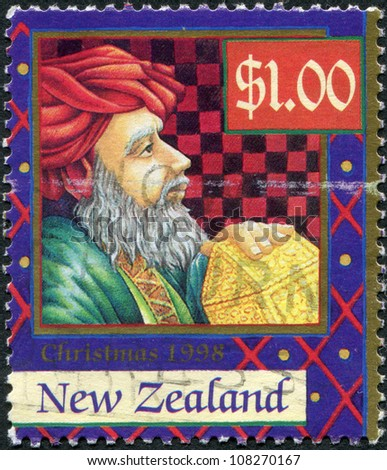 NEW ZEALAND - CIRCA 1998: A stamp printed in New Zealand, is dedicated to Christmas, shows Simon Magus, circa 1998