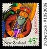 NEW ZEALAND - CIRCA 1991: A stamp printed in New Zealand shows Magi, circa 1991 - stock photo