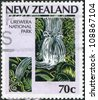NEW ZEALAND - CIRCA 1987: Postage stamps printed in New Zealand, is dedicated to the 100th anniversary of the National park system, shows Park Urewera, circa 1987 - stock photo