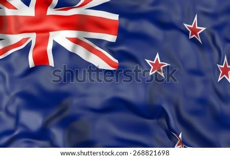 New Zealand corrugated flag 3d illustration  - stock photo